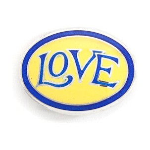 LOVE - Royal Blue and Yellow